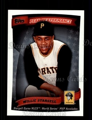 2010 Topps Peak Performance #24 PP  -  Willie Stargell Peak Performance