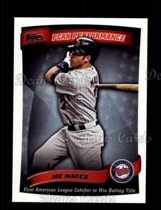 2010 Topps Peak Performance #26 PP  -  Joe Mauer Peak Performance