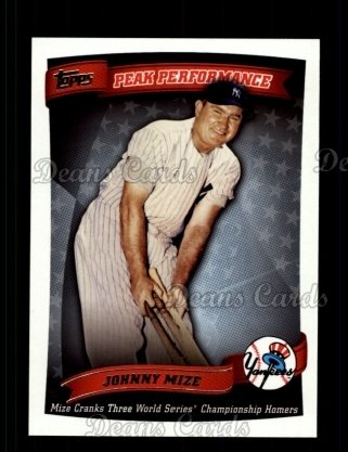2010 Topps Peak Performance #28 PP  -  Johnny Mize Peak Performance