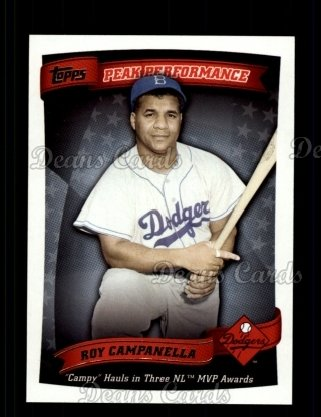 2010 Topps Peak Performance #29 PP  -  Roy Campanella Peak Performance