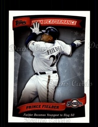 2010 Topps Peak Performance #30 PP  -  Prince Fielder Peak Performance