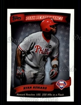 2010 Topps Peak Performance #32 PP  -  Ryan Howard Peak Performance