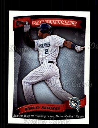 2010 Topps Peak Performance #37 PP  -  Hanley Ramirez Peak Performance