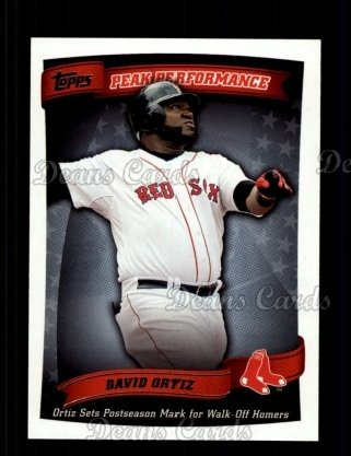 2010 Topps Peak Performance #38 PP  -  David Ortiz Peak Performance