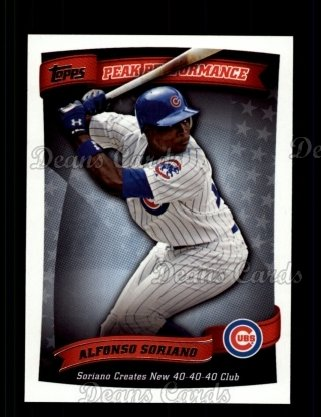 2010 Topps Peak Performance #40 PP  -  Alfonso Soriano Peak Performance