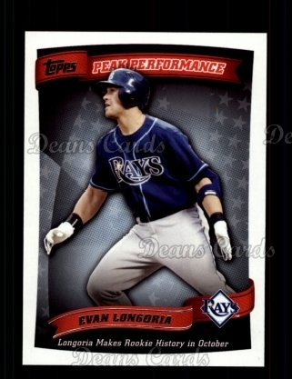 2010 Topps Peak Performance #49 PP  -  Evan Longoria Peak Performance
