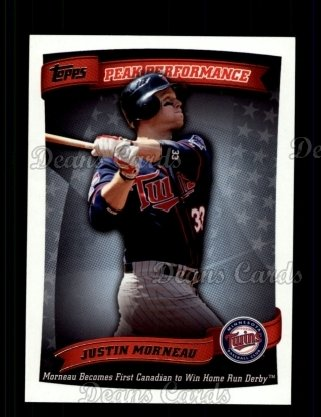 2010 Topps Peak Performance #8 PP  -  Justin Morneau Peak Performance