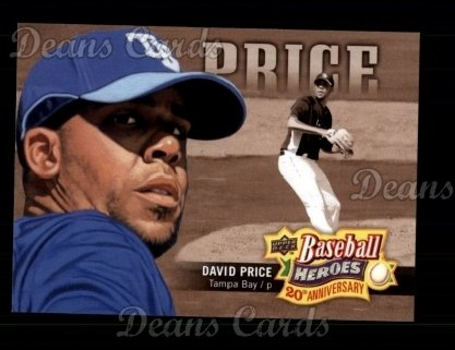 2010 Upper Deck #5 BHA  -  David Price Baseball Heroes Anniversary
