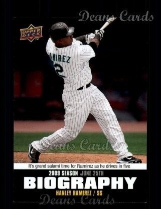 2010 Upper Deck Season Biographies #100 SB Hanley Ramirez
