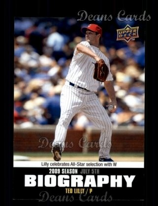2010 Upper Deck Season Biographies #111 SB Ted Lilly