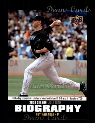 2010 Upper Deck Season Biographies #122 SB Roy Halladay