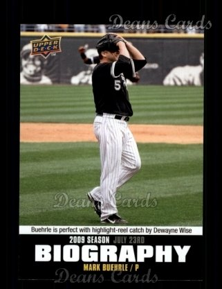 2010 Upper Deck Season Biographies #127 SB Mark Buehrle