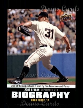 2010 Upper Deck Season Biographies #178 SB Brad Penny