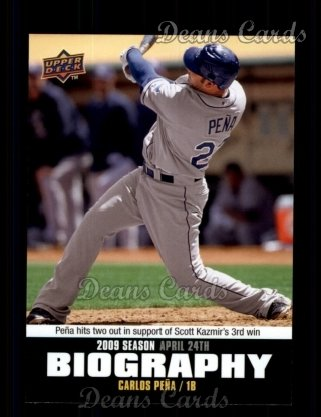 2010 Upper Deck Season Biographies #22 SB Carlos Pena