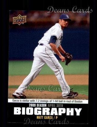 2010 Upper Deck Season Biographies #30 SB Matt Garza