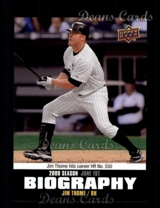 2010 Upper Deck Season Biographies #67 SB Jim Thome