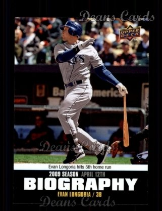 2010 Upper Deck Season Biographies #8 SB Evan Longoria