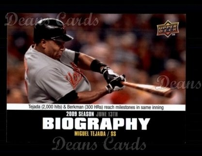 2010 Upper Deck Season Biographies #82 SB Miguel Tejada