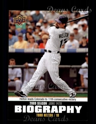 2010 Upper Deck Season Biographies #85 SB Todd Helton