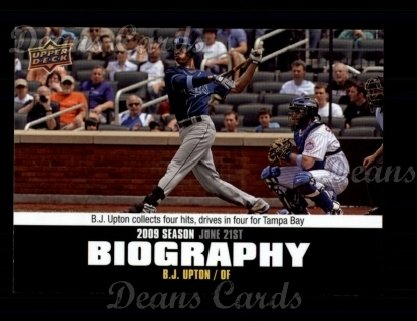 2010 Upper Deck Season Biographies #94 SB B.J. Upton