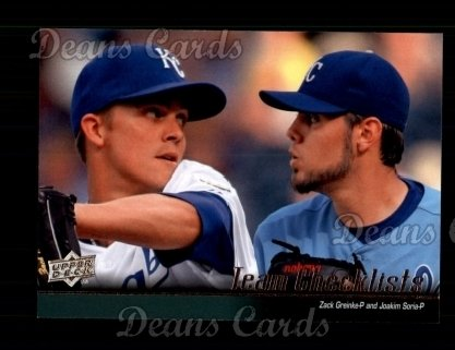 2010 Upper Deck #583   -  Zack Greinke / Joakim Soria Royals Team Checklist