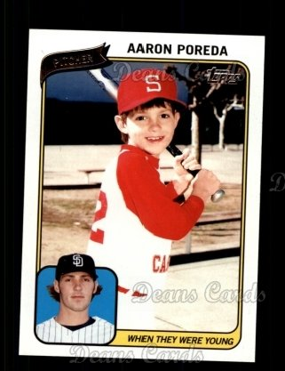 2010 Topps When They Were Young #1 WTWY  -  Aaron Poreda When They Were Young
