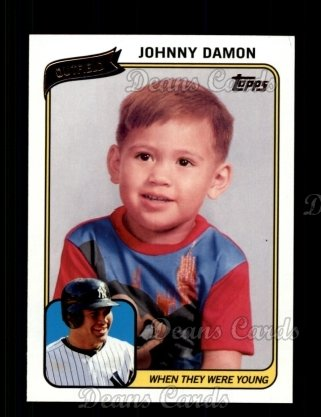 2010 Topps When They Were Young #12 WTWY  -  Johnny Damon When They Were Young