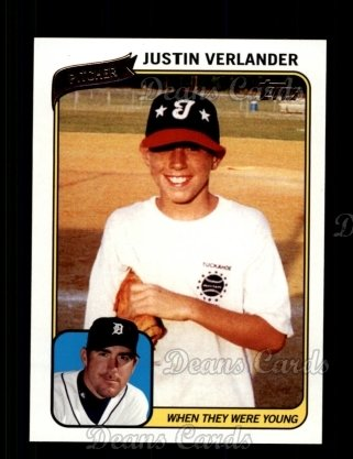 2010 Topps When They Were Young #13 WTWY  -  Justin Verlander When They Were Young