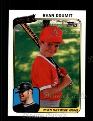 2010 Topps When They Were Young #14 WTWY  -  Ryan Doumit When They Were Young