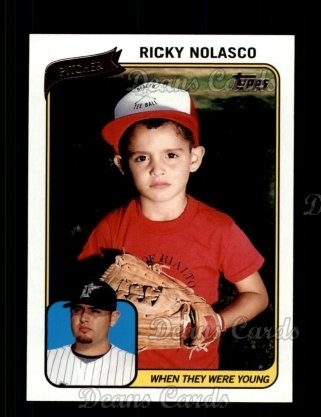 2010 Topps When They Were Young #16 WTWY  -  Ricky Nolasco When They Were Young