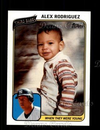 2010 Topps When They Were Young #2 WTWY  -  Alex Rodriguez When They Were Young