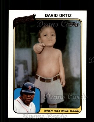 2010 Topps When They Were Young #8 WTWY  -  David Ortiz When They Were Young