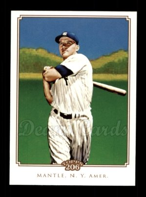2010 Topps 206 #340  Mickey Mantle