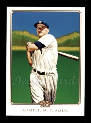 2010 Topps 206 #345  Mickey Mantle