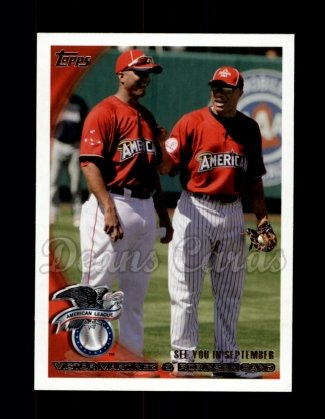 2010 Topps Update #65   -  Victor Martinez / Robinson Cano See you in September