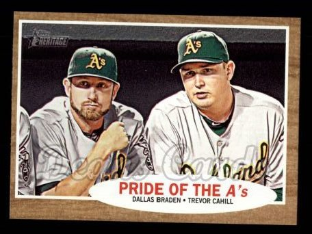 2011 Topps Heritage #127   -  Dallas Braden / Trevor Cahill Pride of the A's