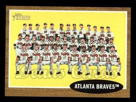 2011 Topps Heritage #158   Braves Team