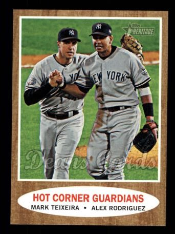2011 Topps Heritage #163   -  Mark Teixeira / Alex Rodriguez Hot Corner Guardians