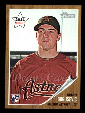 2011 Topps Heritage #204  Brian Bogusevic