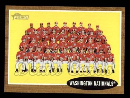 2011 Topps Heritage #206   Nationals Team