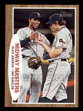 2011 Topps Heritage #211   -  Elvis Andrus / Ian Kinsler Midway Masters