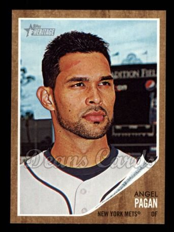 2011 Topps Heritage #213  Angel Pagan