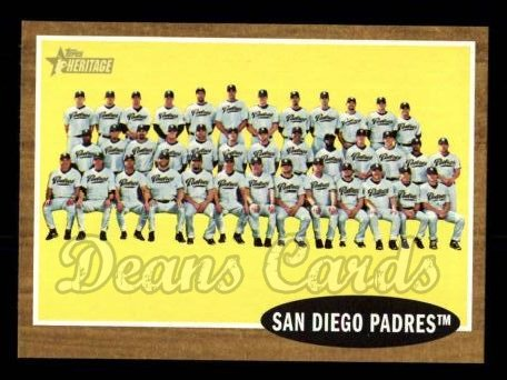 2011 Topps Heritage #22   Padres Team