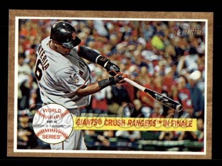 2011 Topps Heritage #236   -  Edgar Renteria Giants Crush Rangers in Finale
