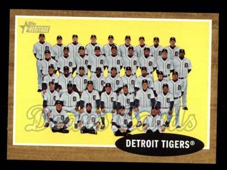 2011 Topps Heritage #24   Tigers Team