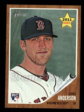 2011 Topps Heritage #244  Lars Anderson