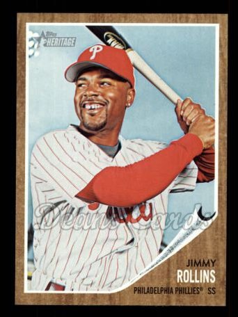 2011 Topps Heritage #284  Jimmy Rollins
