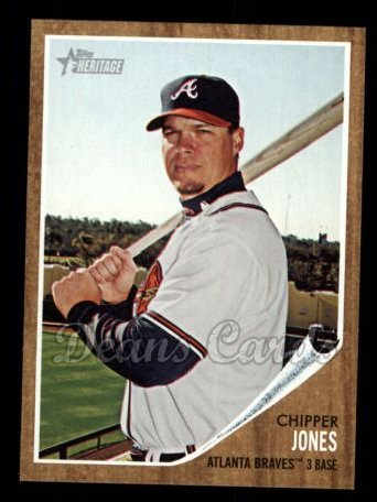 2011 Topps Heritage #30  Chipper Jones