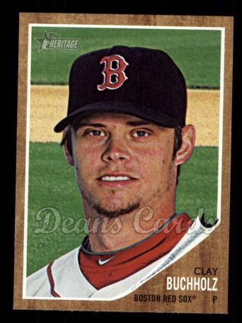 2011 Topps Heritage #301  Clay Buchholz