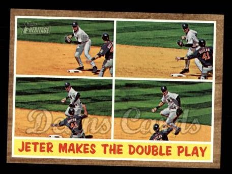 2011 Topps Heritage #311   -  Derek Jeter Jeter Makes the Double Play